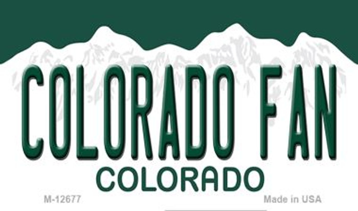 Colorado Fan Novelty Metal Magnet M-12677