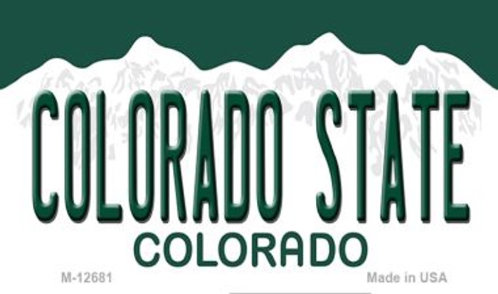 Colorado State Novelty Metal Magnet M-12681