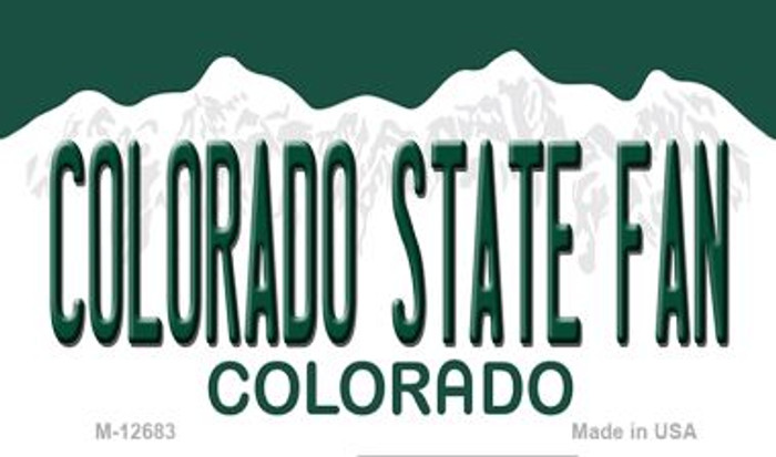 Colorado State Fan Novelty Metal Magnet M-12683