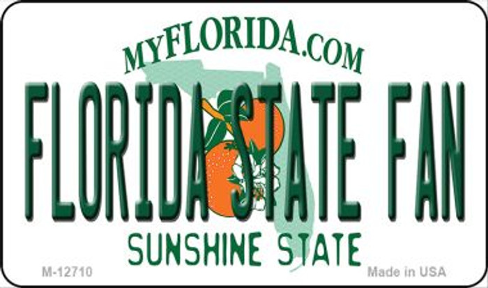 Florida State Fan Novelty Metal Magnet M-12710