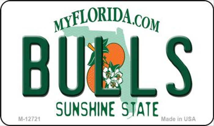 Bulls Novelty Metal Magnet M-12721