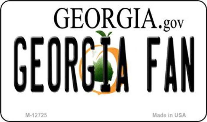 Georgia Fan Novelty Metal Magnet M-12725