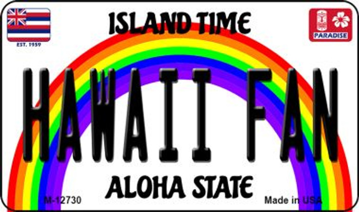Hawaii Fan Novelty Metal Magnet M-12730