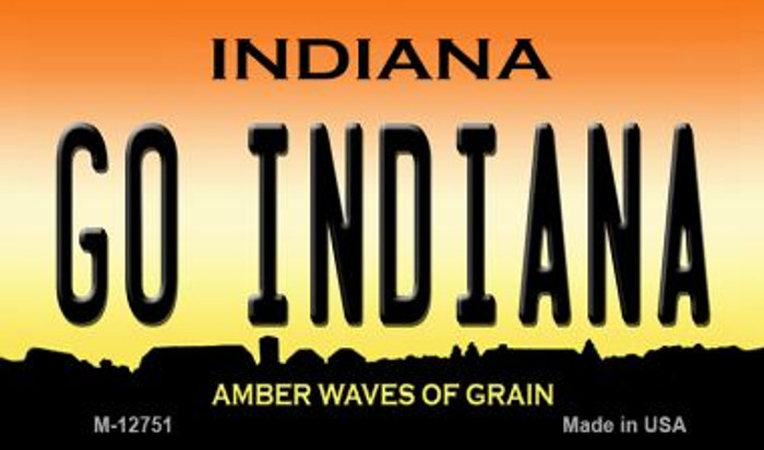 Go Indiana Novelty Metal Magnet M-12751