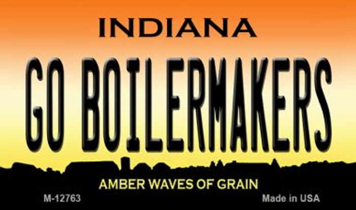 Go Boilermakers Novelty Metal Magnet M-12763