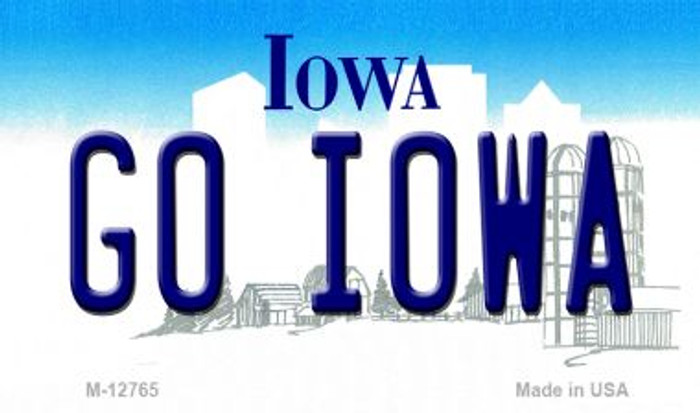 Go Iowa Novelty Metal Magnet M-12765