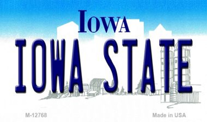 Iowa State Novelty Metal Magnet M-12768