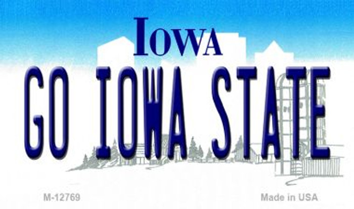 Go Iowa State Novelty Metal Magnet M-12769