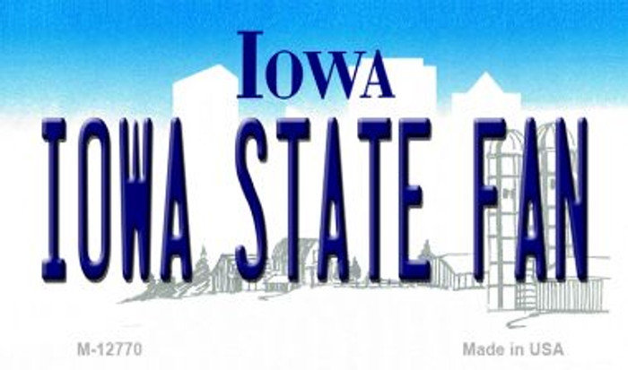Iowa State Fan Novelty Metal Magnet M-12770