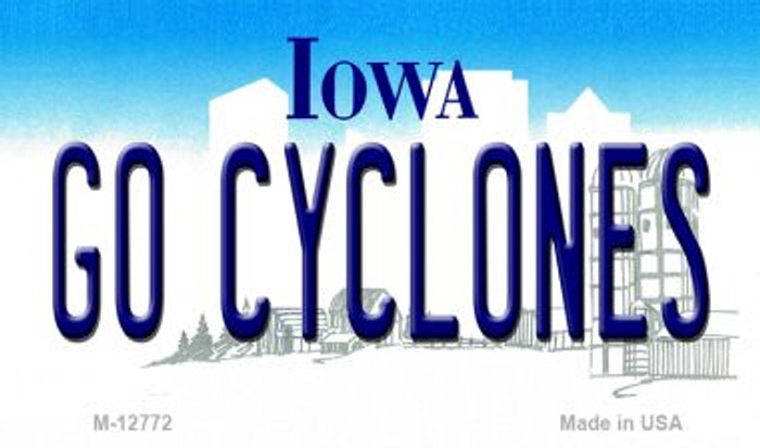 Go Cyclones Novelty Metal Magnet M-12772