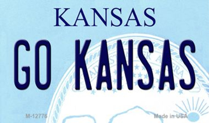 Go Kansas Novelty Metal Magnet M-12776