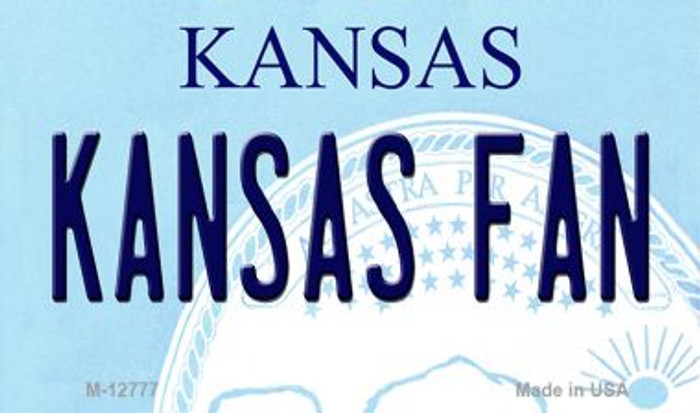 Kansas Fan Novelty Metal Magnet M-12777