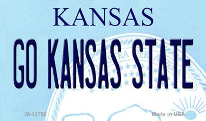 Go Kansas State Novelty Metal Magnet M-12780