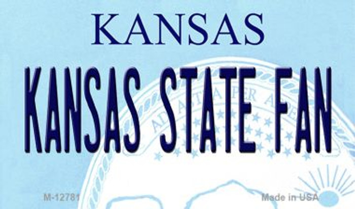 Kansas State Fan Novelty Metal Magnet M-12781