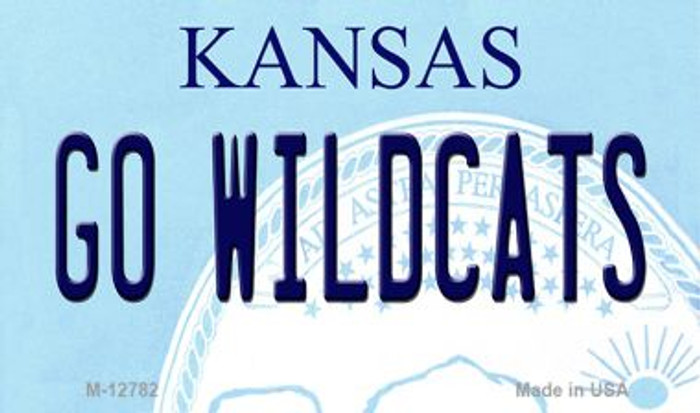 Go Wildcats Novelty Metal Magnet M-12782