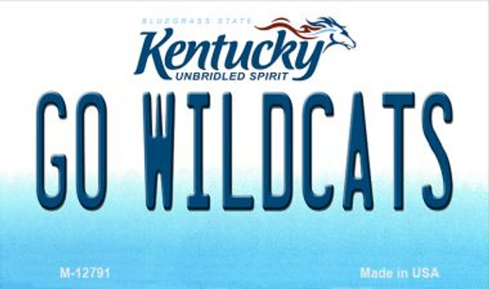 Go Wildcats Novelty Metal Magnet M-12791