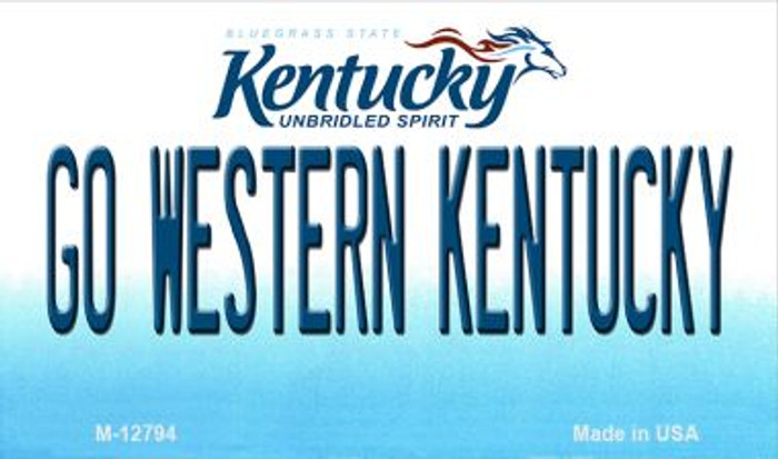 Go Western Kentucky Novelty Metal Magnet M-12794