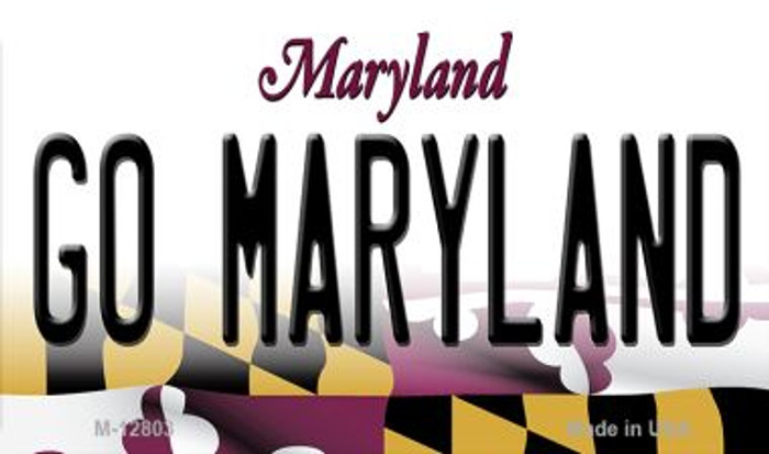 Go Maryland Novelty Metal Magnet M-12803