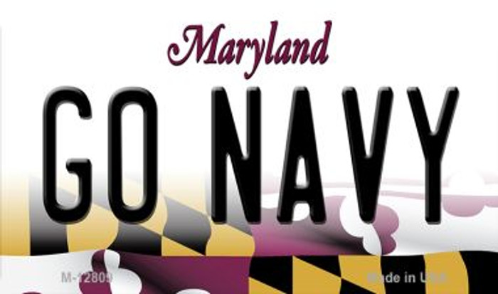 Go Navy Novelty Metal Magnet M-12809