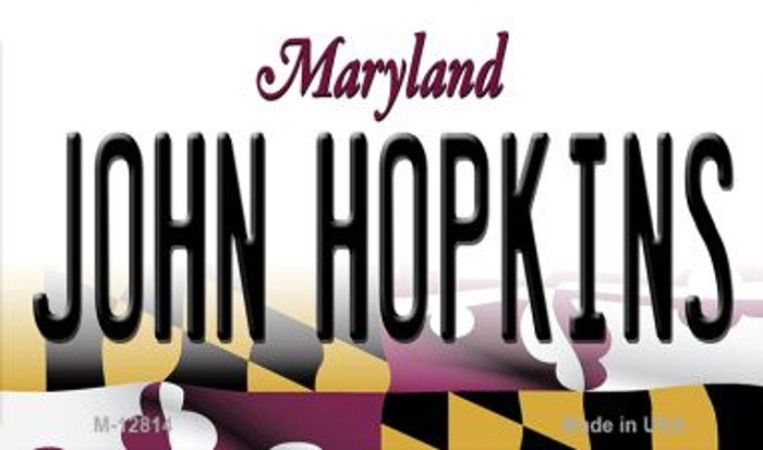 Johns Hopkins Novelty Metal Magnet M-12814