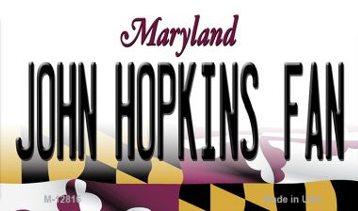 John Hopkins Fan Novelty Metal Magnet M-12816
