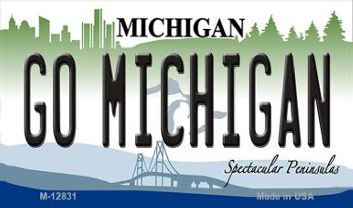 Go Michigan Novelty Metal Magnet M-12831