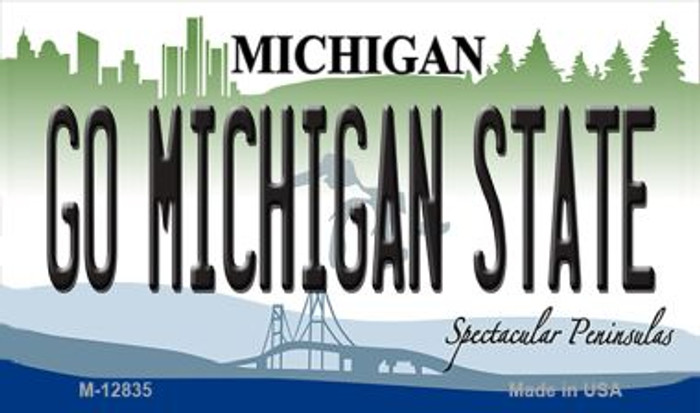 Go Michigan State Novelty Metal Magnet M-12835