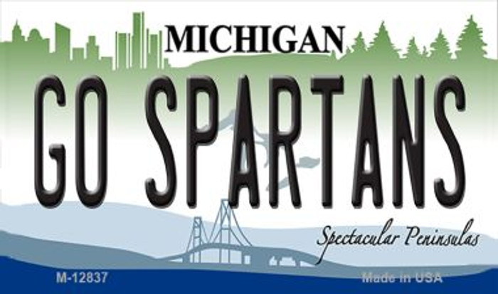 Go Spartans Novelty Metal Magnet M-12837