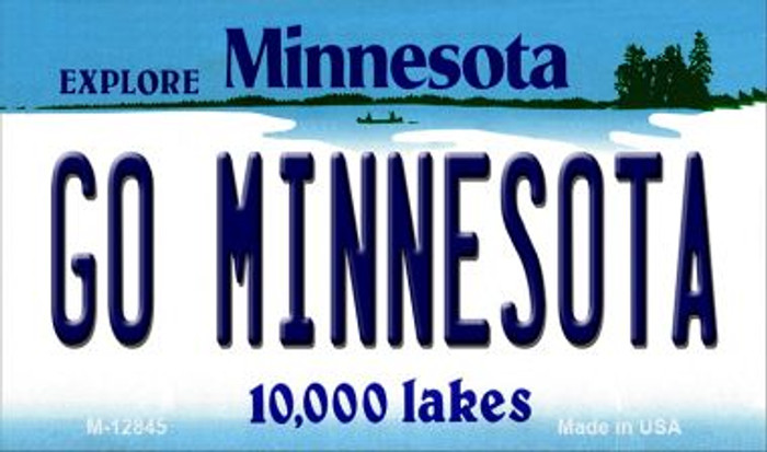 Go Minnesota Novelty Metal Magnet M-12845