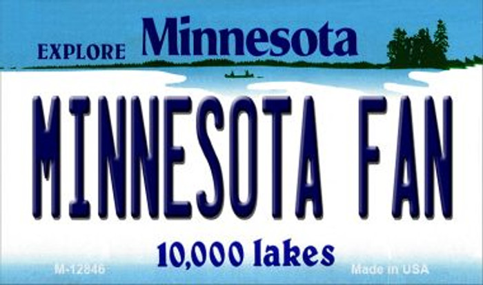 Minnesota Fan Novelty Metal Magnet M-12846