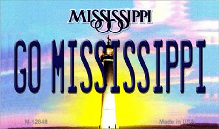 Go Mississippi Novelty Metal Magnet M-12848