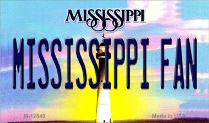 Mississippi Fan Novelty Metal Magnet M-12849