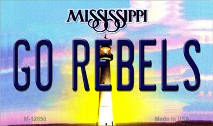 Go Rebels Novelty Metal Magnet M-12850
