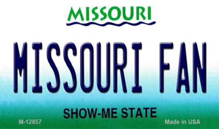 Missouri Fan Novelty Metal Magnet M-12857