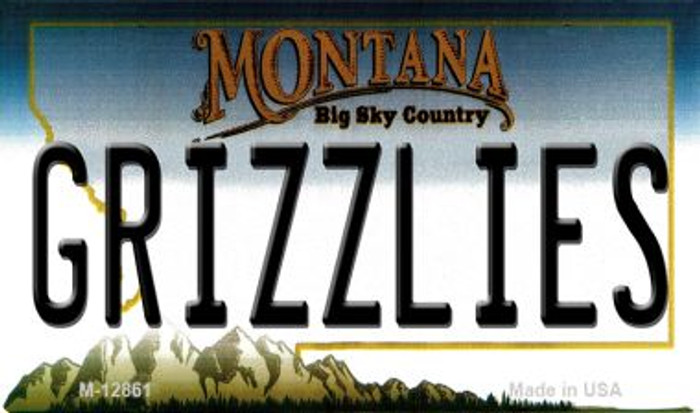 Grizzlies Novelty Metal Magnet M-12861