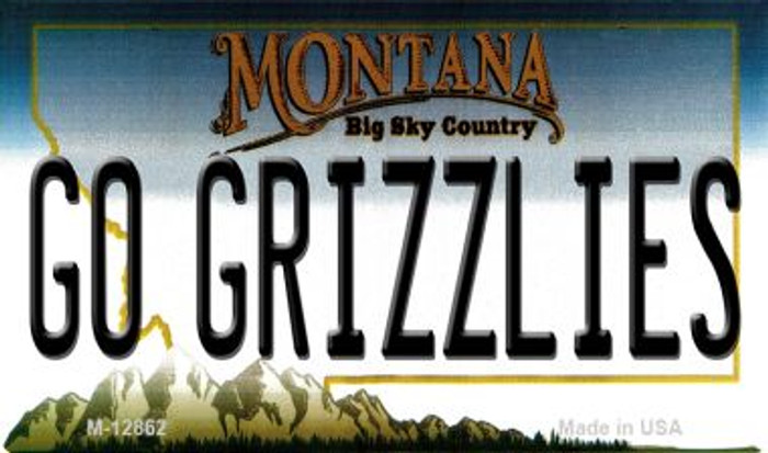 Go Grizzlies Novelty Metal Magnet M-12862