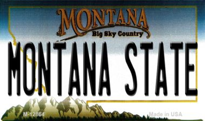 Montana State Novelty Metal Magnet M-12864