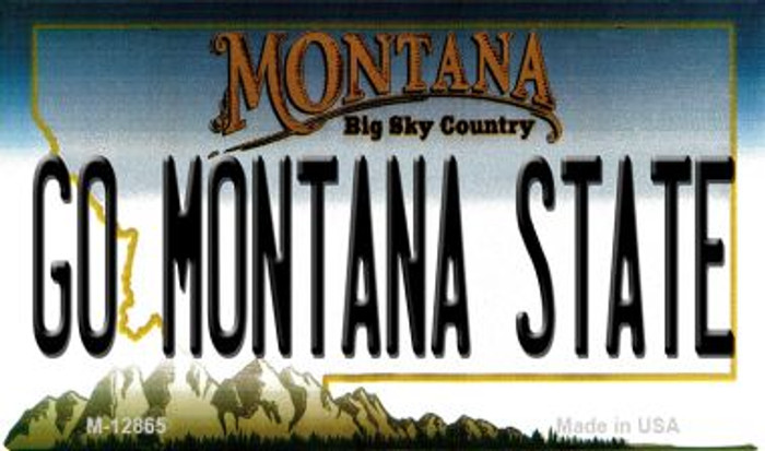 Go Montana State Novelty Metal Magnet M-12865