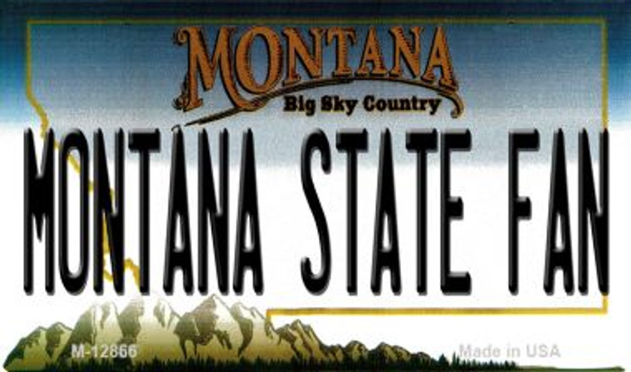 Montana State Fan Novelty Metal Magnet M-12866