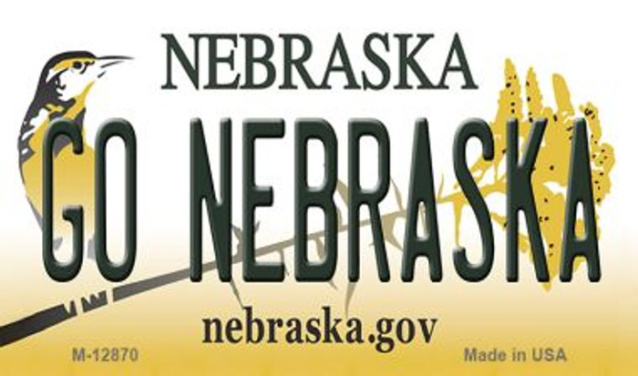 Go Nebraska Novelty Metal Magnet M-12870