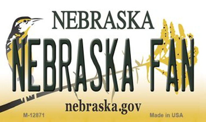 Nebraska Fan Novelty Metal Magnet M-12871