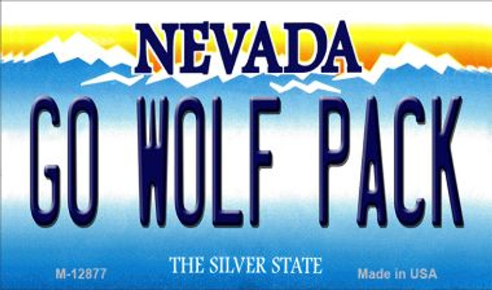 Go Wolf Pack Novelty Metal Magnet M-12877