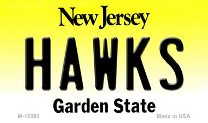 Hawks Novelty Metal Magnet M-12882