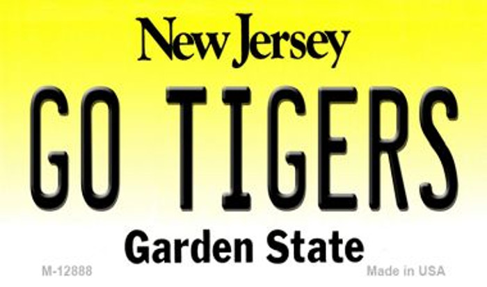 Go Tigers Novelty Metal Magnet M-12888