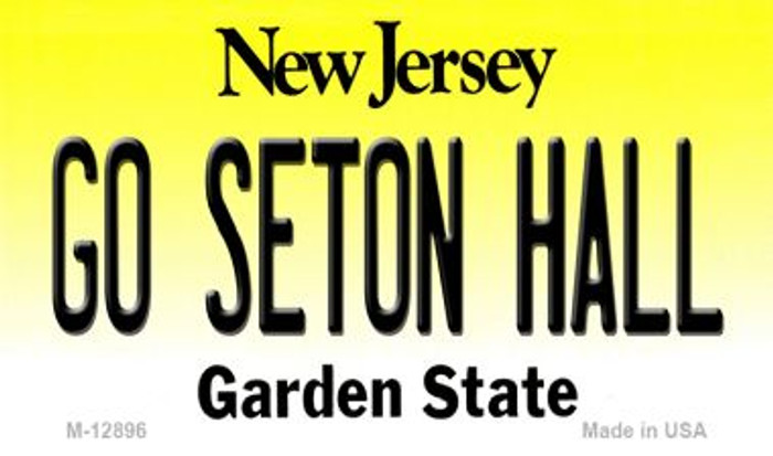 Go Seton Hall Novelty Metal Magnet M-12896