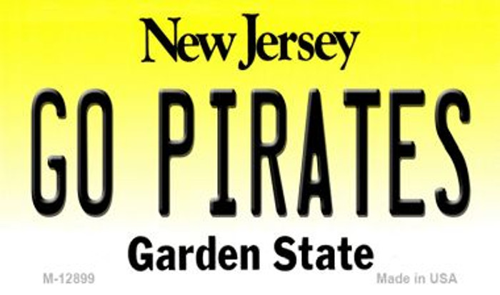 Go Pirates Novelty Metal Magnet M-12899