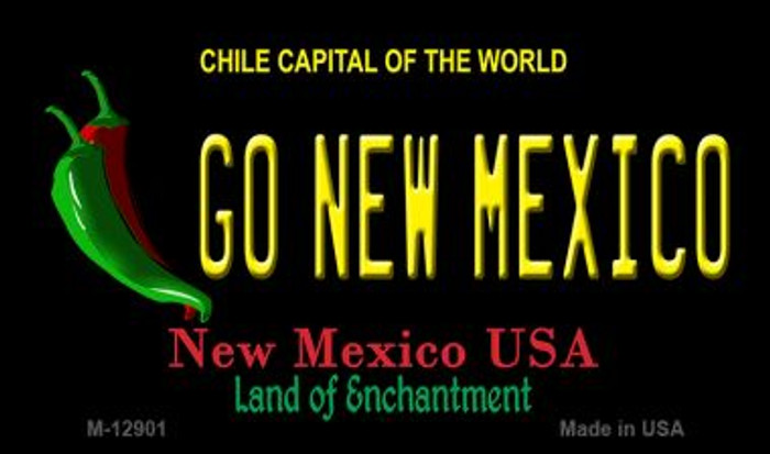 Go New Mexico Novelty Metal Magnet M-12901