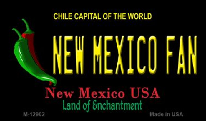 New Mexico Fan Novelty Metal Magnet M-12902