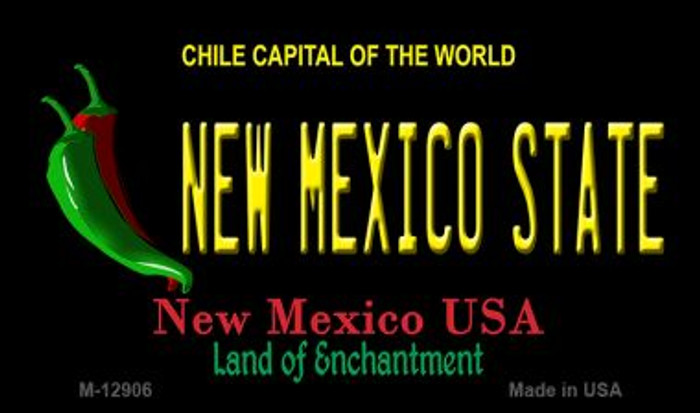 New Mexico State Novelty Metal Magnet M-12906