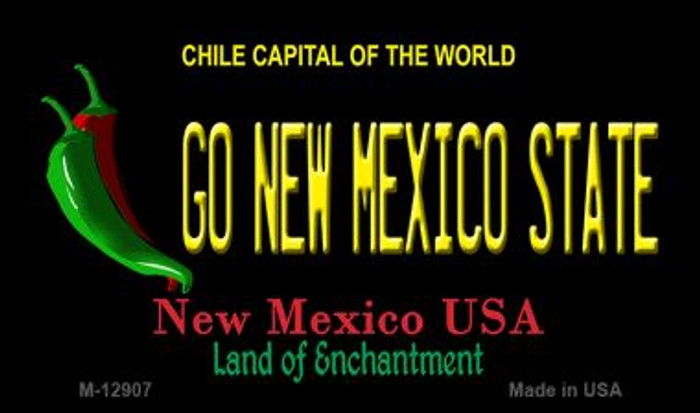 Go New Mexico State Novelty Metal Magnet M-12907